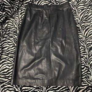 Vintage Boutique of Leathers Pencil Skirt